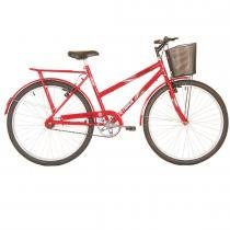 Bicicleta Feminina Practise com Cestão Aro 26 Vermelha - Track Bikes - Vermelho - Track  Bikes