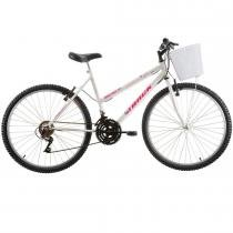 Bicicleta Feminina Serena com Cesta Aro 26 Branco - Track Bikes - Track Bikes