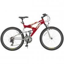 Bicicleta Fischer Aro 26 Vector com 21 Marchas 1343 - Vermelho/Prata - Fischer