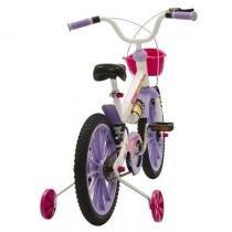 Bicicleta Fischer Infantil Aro 16 Ferinha Super 17342 Branco/Lilás - Fischer