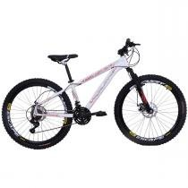 Bicicleta Freeride Aro 26 Alumínio Duplo Freio a Disco Branca - Dalannio Bike