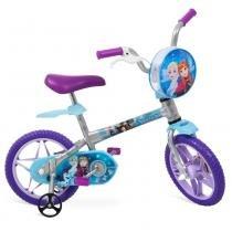 Bicicleta Frozen Disney  Aro 12 Cinza Bandeirante - Bandeirante