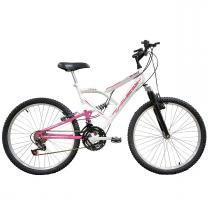 Bicicleta Full Fa240 Aro 24 Branca E Rosa 2011870 Mormaii - Mormaii