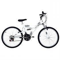 Bicicleta Full Suspension Kanguru Aço Aro 24 Polimet -