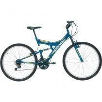 Bicicleta Full Suspension Kanguru Aço Aro 26 Polimet -