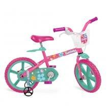 Bicicleta Gatinha Aro 14 Rosa Bandeirante -
