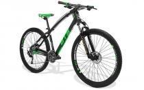 Bicicleta GTS M1 I-Vtec Deore aro 29 Freio Hidráulico Câmbio Shimano 30 marchas - Preto / Verde -