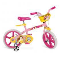 Bicicleta Infantil 14 Polegadas Princesas Disney Bela 2195 - Bandeirante - Bandeirante