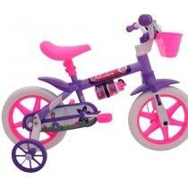 Bicicleta Infantil Aro 12 Feminina Cairu violeta -