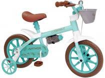 Bicicleta Infantil Aro 12 Nathor Anthonella Branco - com Rodinha