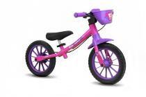 Bicicleta Infantil Aro 12 Sem Pedal Balance Bike Feminina - Nathor -