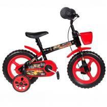Bicicleta Infantil Aro 12 Styll Hot Preto E Vermelho -