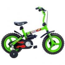 Bicicleta Infantil Aro 12 Verden Rock - Verde e Preto com Rodinhas
