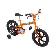 Bicicleta Infantil Aro 16 Caloi Power Rex Laranja - com Rodinhas