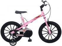 Bicicleta Infantil Aro 16 Colli Bike Fruit Rosa - com Rodinhas Freio V-Brake