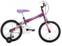 Bicicleta Infantil Aro 16 Houston Bloom Roxa - com Rodinhas