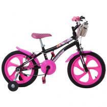 Bicicleta Infantil Aro 16 Houston Tina - Preto