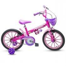 Bicicleta Infantil Aro 16 Top Girls com Garrafinha Nathor - Nathor