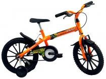 Bicicleta Infantil Aro 16 Track  Bikes Dino Neon  - Laranja Neon Freio V-Brake