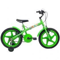 Bicicleta Infantil Aro 16 Verden Rock Verde - com Rodinhas Freio V-Brake