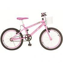 Bicicleta Infantil Aro 20 Colli Bike Jully Rosa - com Cesta Freio V-Brake