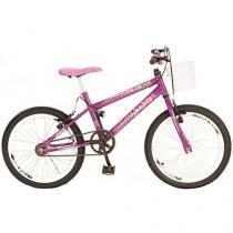 Bicicleta Infantil Aro 20 Colli Bike Jully Violeta - com Cesta Freio V-Brake