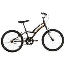 Bicicleta Infantil Aro 20 Houston Triton 1 Marcha - Preto Freio V-Brake