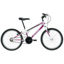 Bicicleta Infantil Aro 20 Polimet 7138 1 Marcha - Branca Freio V-Brake