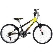 Bicicleta Infantil Aro 24 Track  Bikes Axess - 18 Marchas Amarela e Preta Freio V-Brake