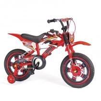 Bicicleta  Infantil Bike Moto Cross Aro 16 Freio a Disco Masculina  Unitoys -