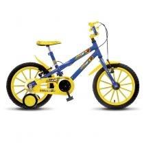 Bicicleta Infantil Colli Aro 16 MTB Hot 102/18 Azul com Rodas de Apoio - Colli