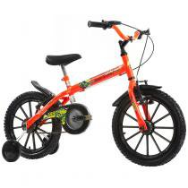 Bicicleta Infantil Dino Neon ON Aro 16 Track  Bikes - Laranja - Track Bikes