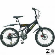 Bicicleta Infantil Fast Boy Aro 20 18V Preta Em Aço Carbono 5657 Fischer -