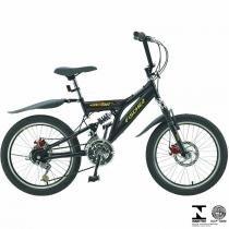 Bicicleta Infantil Fast Boy Aro 20 18V Preta Em Aço Carbono 5657 Fischer - Fischer