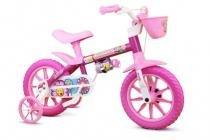 Bicicleta Infantil Feminina Aro 12 Flower - Nathor - Rosa - Nathor