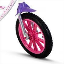 Bicicleta Infantil Feminina Aro 14 FirstPro Aluminium - Nathor - Branco - Nathor