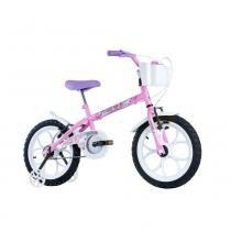 Bicicleta Infantil Feminina Pinky Aro 16 Track Bike Rosa - Track