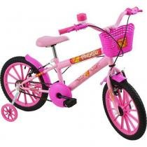 Bicicleta Infantil Feminina Polikids Aro 16 Rosa -