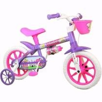 Bicicleta Infantil Feminina Violet Nathor Aro 12 -
