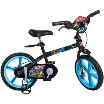 Bicicleta Infantil Liga da Justiça Aro 14 - Bandeirante Preto com Rodinhas
