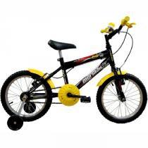 Bicicleta Infantil Masculina Aro 16 MTB Joy Preta - Mormaii - Mormaii