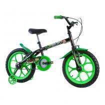 Bicicleta Infantil Masculina Dino Aro 16 Preto/Verde - Track Bikes - Track Bikes