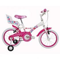 Bicicleta Infantil Tito My Bike aro 16 com porta boneca Branca - Tito