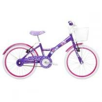 Bicicleta Infantil Tito My Bike aro 20 com cesto Roxa - TITO