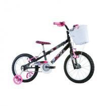 Bicicleta Infantil Track  Bikes Track Girl com Cesta, Aro 16, Preta -