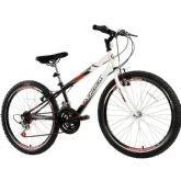 Bicicleta Juvenil Track Bikes Axess, Branca e Preta, Aro 24, 18 Marchas - Track  bikes