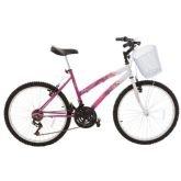 Bicicleta Juvenil Track Bikes Parati, Branca e Rosa, Aro 24, 18 Marchas - Track  bikes