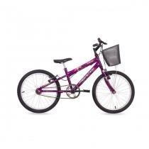 Bicicleta Kiss Aro 20 Monovelocidade com Cesta Free Action -