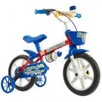 Bicicleta Kit Kat com Capacete Aro 12 Track  Bikes - Vermelho/Azul - Track  Bikes