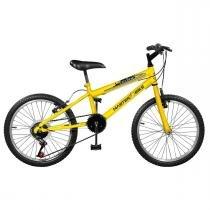 Bicicleta Masculina Plus 7 Marchas Aro 20 Amarela Ciclone Master Bike -